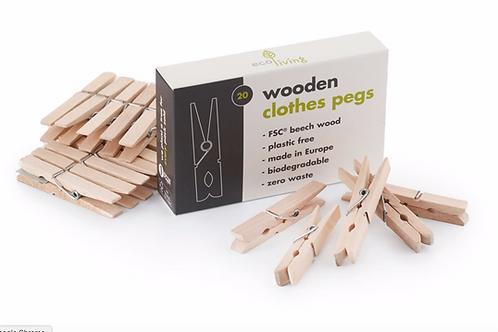 Wooden clothes pegs (FSC)