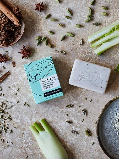 Fennel and Cardamom chai soap bar