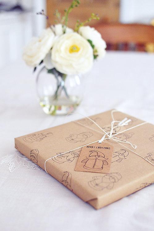 Christmas wrapping paper (Santa)