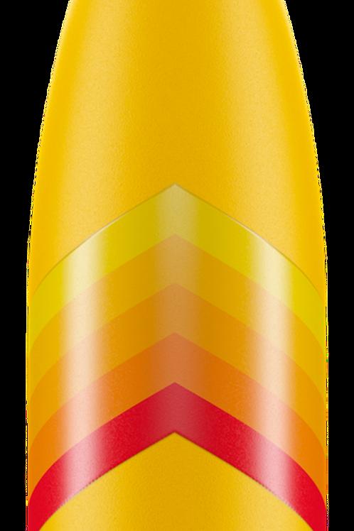 Chilly's - Reusable bottle 500ml yellow retro zig zag