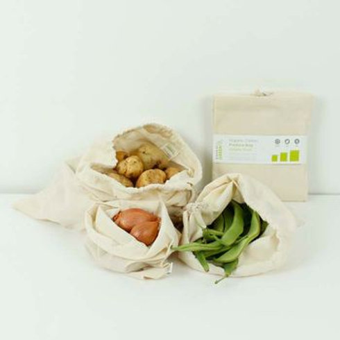 Organic cotton produce bags (pack of 3)