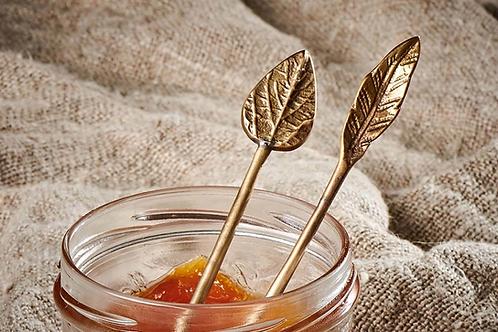Brass condiment spoons