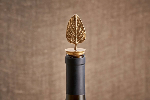 Leaf brass bottle stop