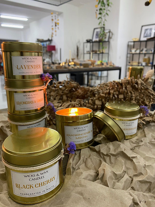 Vegan friendly scented candles