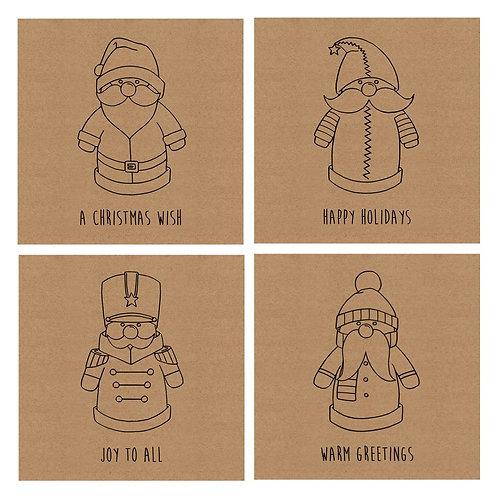 Santa Christmas Card Pack (8 Card Pack)