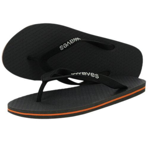 Plastic free flip flops (Men's grey w/orange detail)