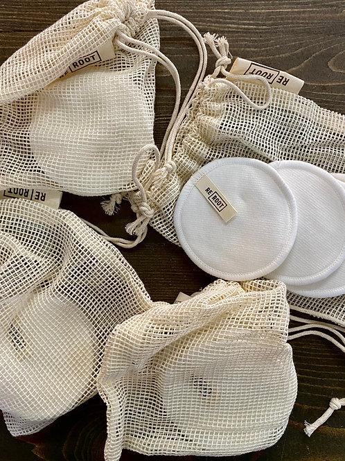 Reusable makeup pads + mesh wash bag