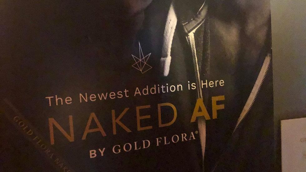 Naked AF by Gold Flora Vape Pen 500mg -  Indica and Sativa