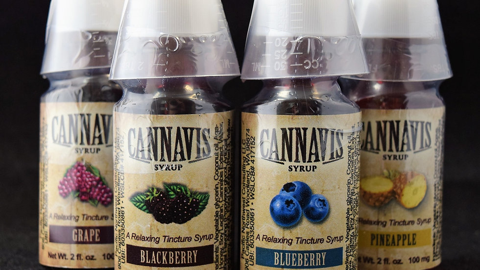 Cannavis Syrup 100MG: Various Flavors