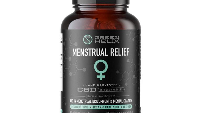 Green Helix Menstrual Relief CBD Capsules 1500mg