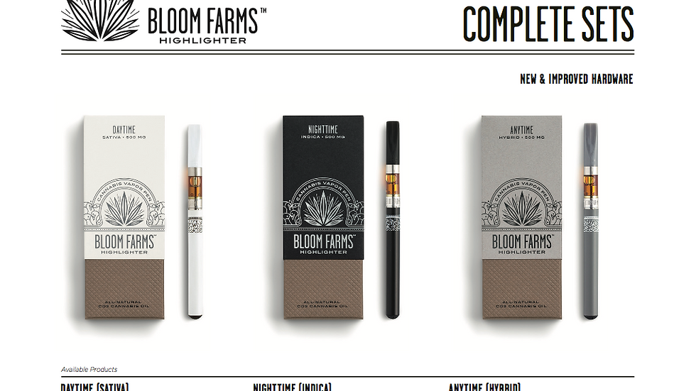 Bloom Farms Highlighter Complete Set, 500mg