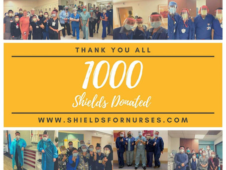 1000 Shields Donated!