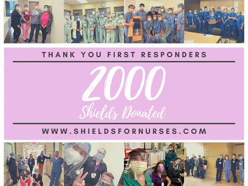 We did it.. 2000 SHIELDS DONATED!
