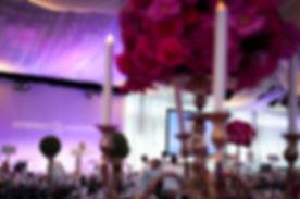 Pink flower centerpieces upward shot.jpe