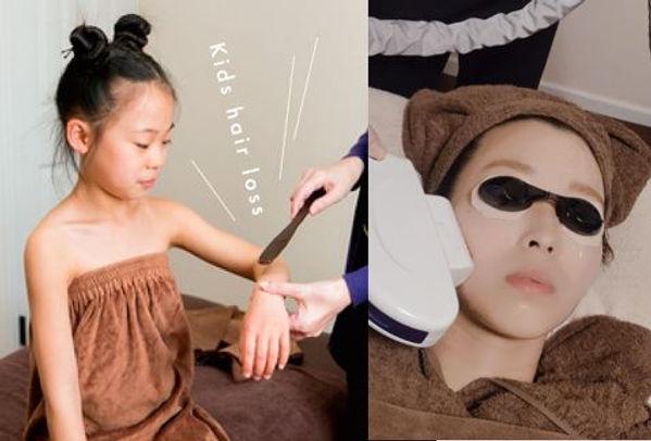 刈谷市・安城市の脱毛サロンAnge:子供の脱毛の写真。「安心・安全」「痛くない脱