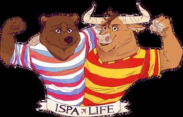 Логотип компании ISPALIFE. Компания ISPALIFE - это услуги по оформлению вид  на жительство в Испанию и последующие услуги