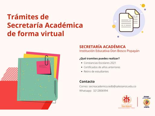 Realiza trámites virtuales de secretaría académica