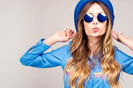 Cool hipster student woman wearing eyewe