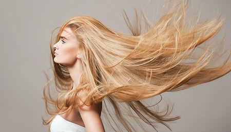 Portrait of a blond beauty with beautifu