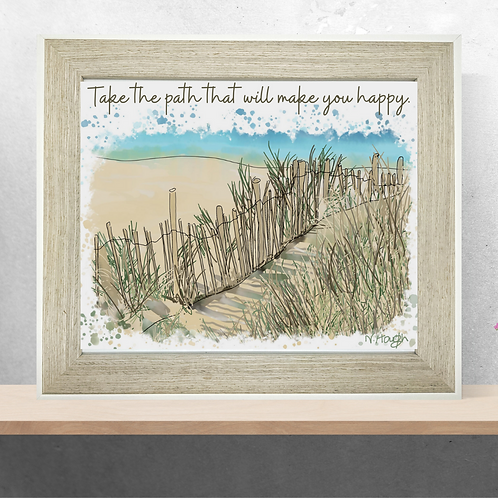 Quote Art Print, The Path