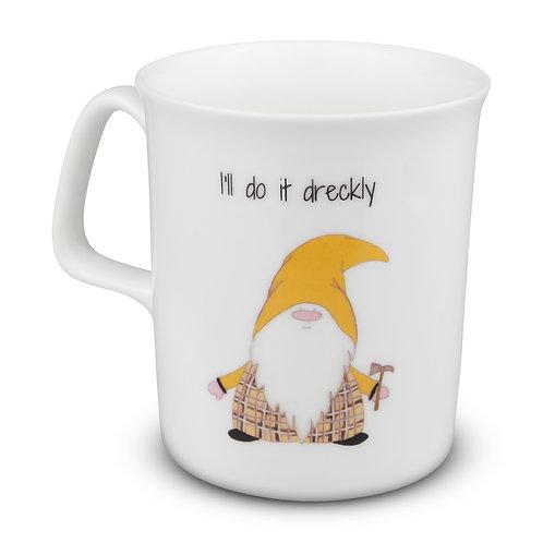Cornish Gnome Mug - Dreckly -bone china and hand printed, personalise option