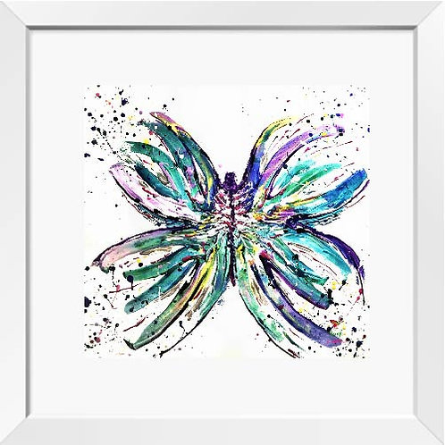Butterfly painting (bright)   Print