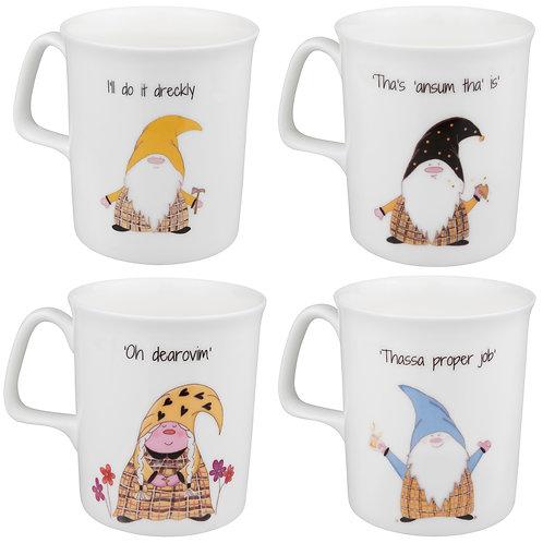 The Cornish Gnome 4 mug set