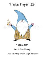 _8 x 6 inch cornish gnome PROPER JOB erm