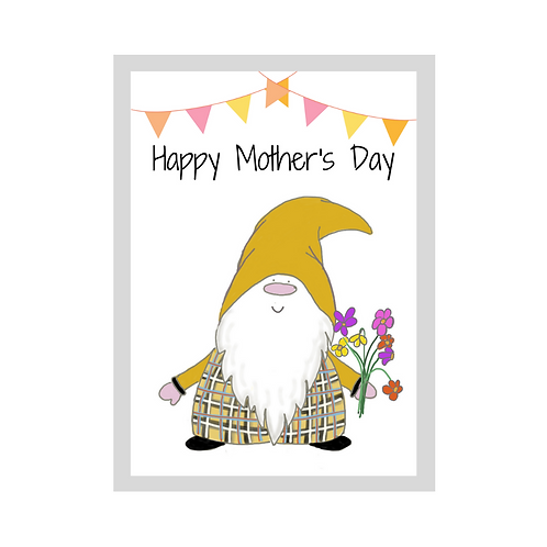 The Cornish Gnome - Mothers day Card - Dreckly