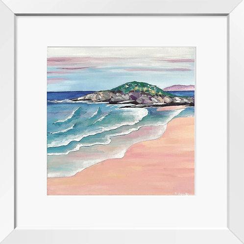 Fistral Beach painting (Colourful Cornwall) | Print
