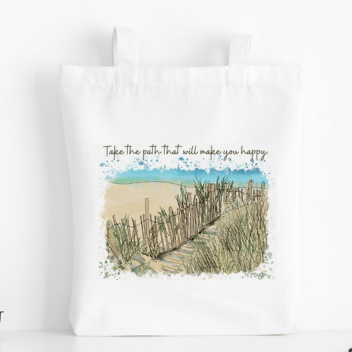 Quote Art Tote Bag, The Path