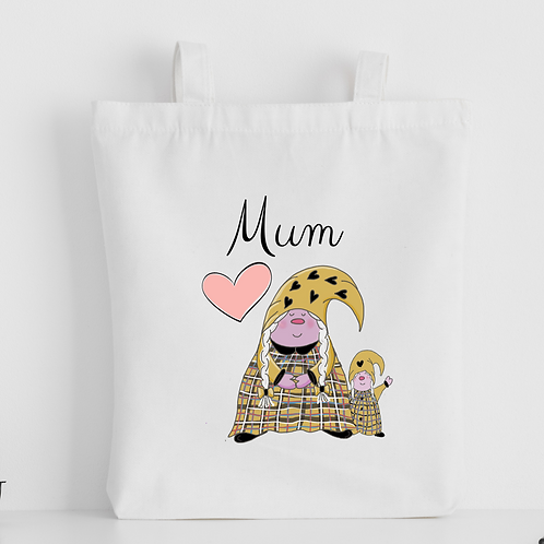 The Cornish Gnome Mothers Day Tote Bag - Mum Toddler Girl