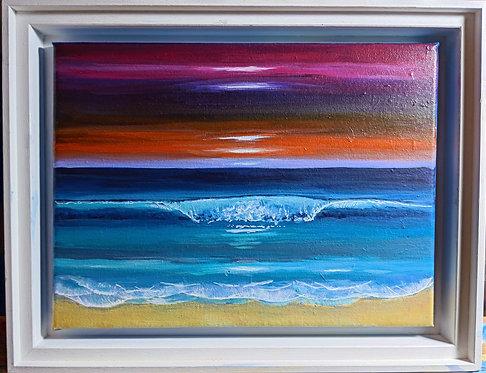 Wave, Ocean painting | The original painting of 'Sunset Break'