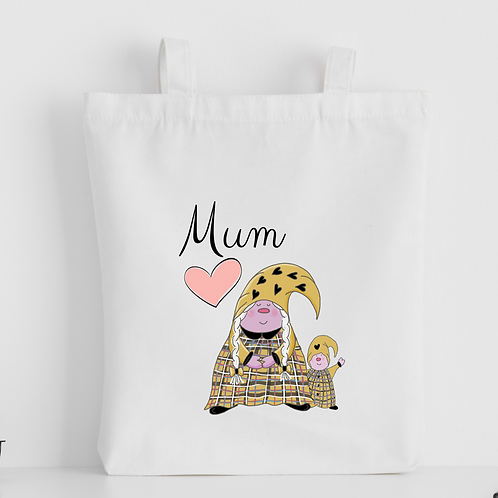 The Cornish Gnome Mothers Day Tote Bag - Mum Toddler Boy