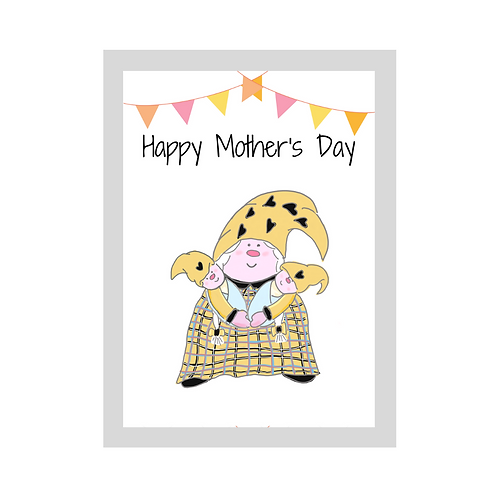 The Cornish Gnome - Mothers day Card - Boy Twins