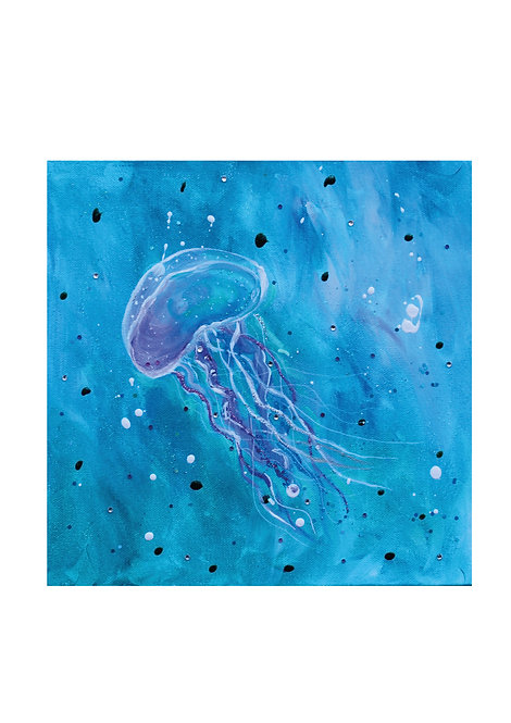 Jelly fish painting | The original painting of 'Joy'