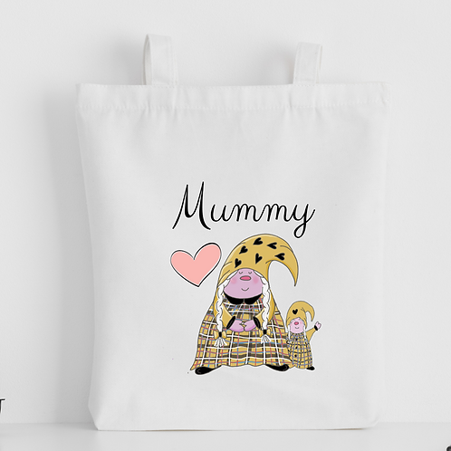 The Cornish Gnome Mothers Day Tote Bag - Mummy Toddler Girl