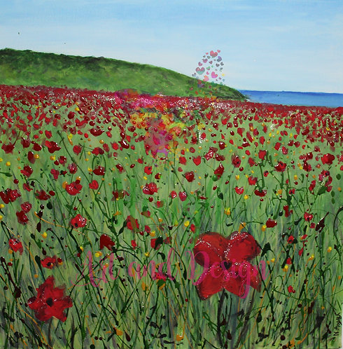 Polly Joke Poppies painting | The original painting of 'A Sense of Polly Joke''