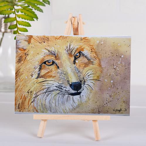 Animal Aura - Red Fox art - Greetings Card