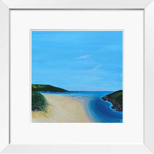 Crantock Beach painting | Print