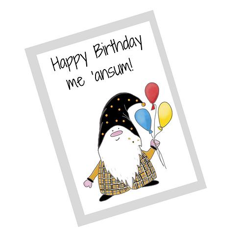 The Cornish Gnome Ansum birthday card