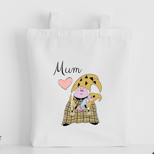 The Cornish Gnome Mothers Day Tote Bag - Mum Baby Boy
