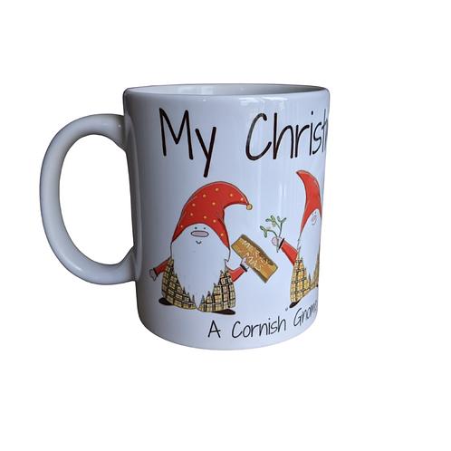 Cornish Gnome Mug - Christmas Eve - Ceramic hand printed