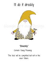 8 x 6 inch cornish gnome dreckly waterma