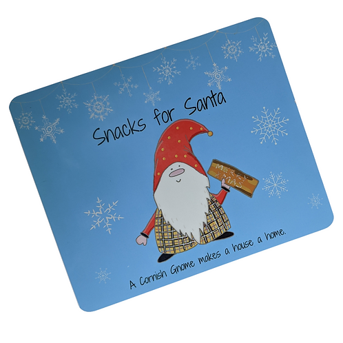 The Cornish Gnome Kids Santa Snack Placemat for xmas eve