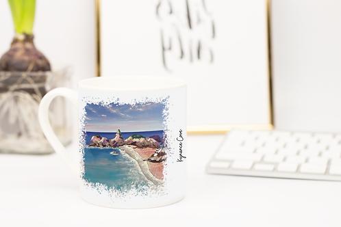 Art of Cornwall,  Bone china mug, Kynance Cove, Cornwall