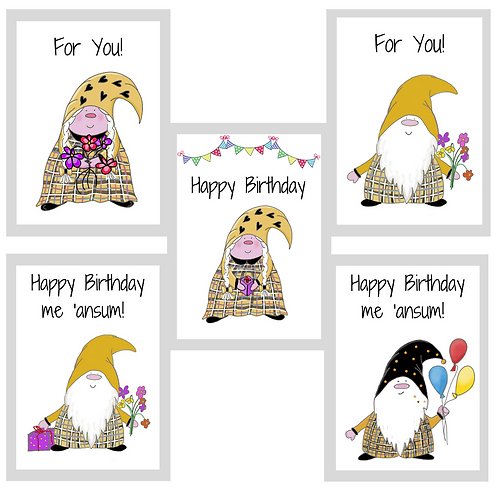 The Cornish Gnome Gift Card Set (A5) 5 for £12