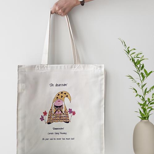 Cornish Gnome 'Dearovim' Tote Bag - personalise option