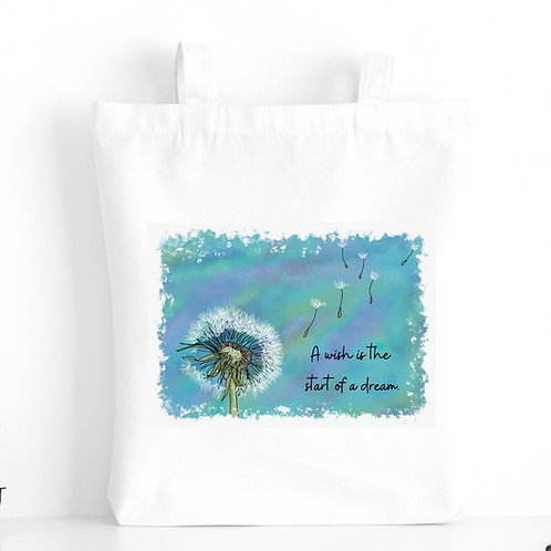Quote Art Tote Bag, The Wish