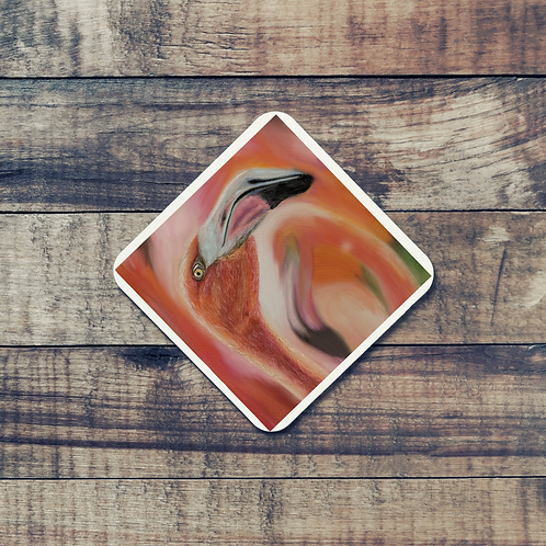 Animal Aura - Coaster -Flamingo